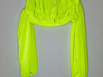 Used: Neon over the shoulder Top