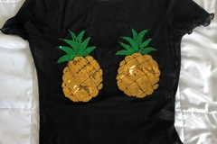 New: pineapple sheer shirt never worn