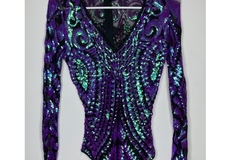 New: Purple sequin body suit