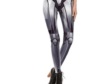 New: Silver Robot Leggings