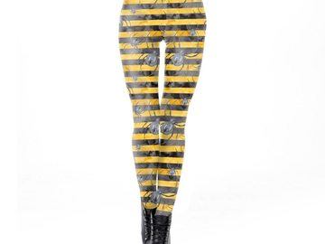 New: Yellow and Black Spider Leggings