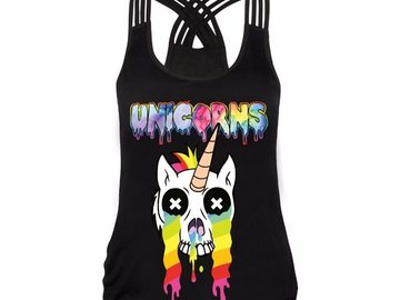 New: Rainbow Unicorn Tank Top