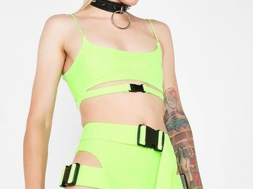 New: Neon Crop Top and Biker Shorts
