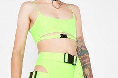 New: Neon Crop Top and Biker Shorts