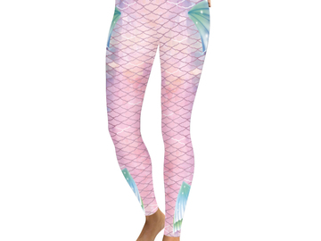 New: Mermaid Leggings - Pink