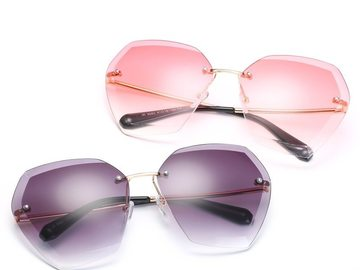 New: Color Hex Frameless Glasses