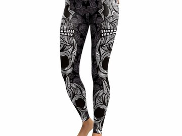 New: Geometric Skull Leggings