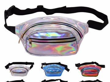 New: Color Holographic Fanny Pack