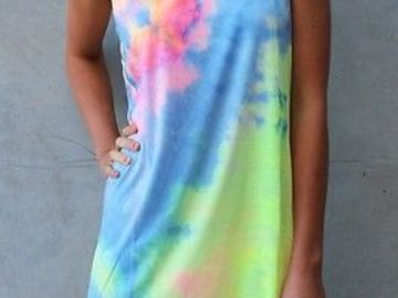 New: Rainbow Tie Dye Beach Dress