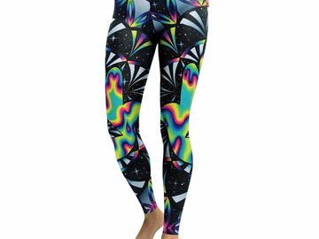 New: Psychedelic Space Leggings