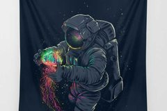 New: Glowing Jellyfish Spaceman Tapestry