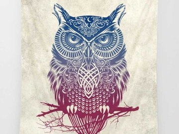 New: Owl Tapestry