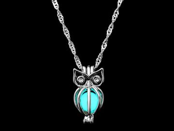New: Glowing Owl Necklace