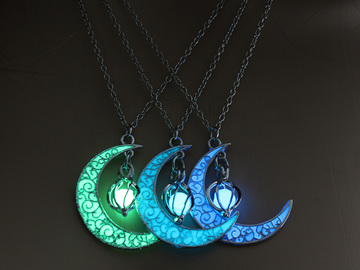 New: Full Glowing Moon Necklace