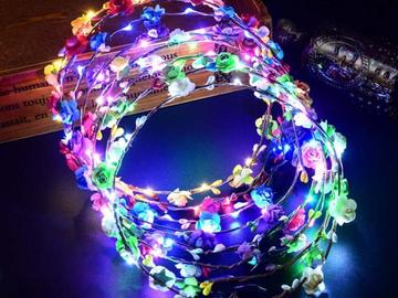 New: Glowing Wreath Headband