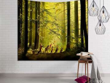 New: Animals in the Woods Tapestry