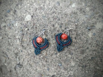 Handmade: Blood Orange Dusk Dancer Earrings