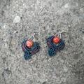 Handmade: Blood Orange Dusk Dancer Earrings