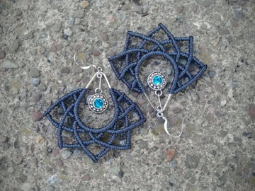 Handmade: Fibonacci Lotus Flower Earrings