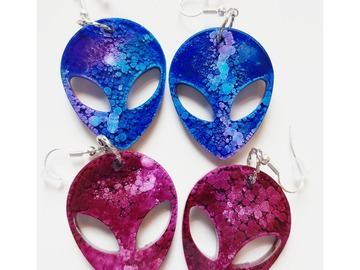 Handmade: Cute Alien Earrings
