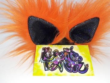 Handmade: Orange black sparkle