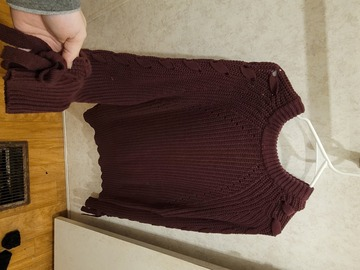 New: Burgundy Sweater