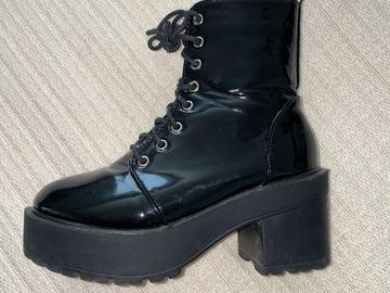Used: Black Shiny Platforms