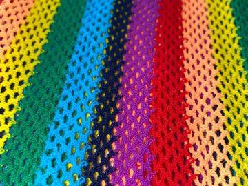 Used: Rainbow Mesh Halter Dress